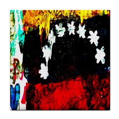 Grunge Abstract In Dark Face Towel