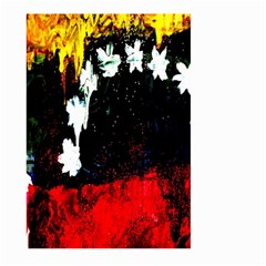 Grunge Abstract In Dark Large Garden Flag (two Sides) by Simbadda