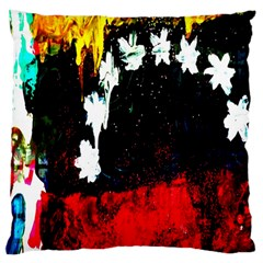 Grunge Abstract In Dark Large Cushion Case (one Side) by Simbadda