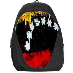 Grunge Abstract In Dark Backpack Bag by Simbadda
