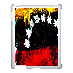 Grunge Abstract In Dark Apple Ipad 3/4 Case (white) by Simbadda