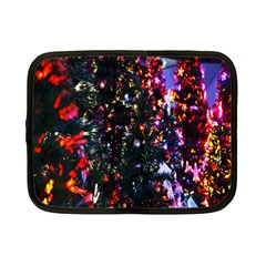 Lit Christmas Trees Prelit Creating A Colorful Pattern Netbook Case (small)  by Simbadda