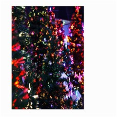 Lit Christmas Trees Prelit Creating A Colorful Pattern Large Garden Flag (Two Sides)