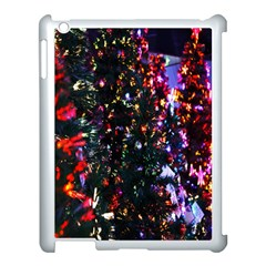 Lit Christmas Trees Prelit Creating A Colorful Pattern Apple Ipad 3/4 Case (white) by Simbadda