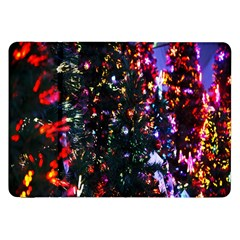 Lit Christmas Trees Prelit Creating A Colorful Pattern Samsung Galaxy Tab 8 9  P7300 Flip Case by Simbadda