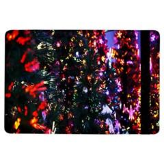 Lit Christmas Trees Prelit Creating A Colorful Pattern Ipad Air Flip by Simbadda