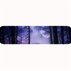 Moonlit A Forest At Night With A Full Moon Large Bar Mats by Simbadda