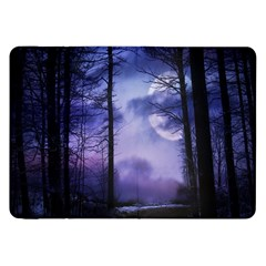 Moonlit A Forest At Night With A Full Moon Samsung Galaxy Tab 8 9  P7300 Flip Case by Simbadda