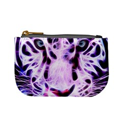 Fractal Wire White Tiger Mini Coin Purses by Simbadda