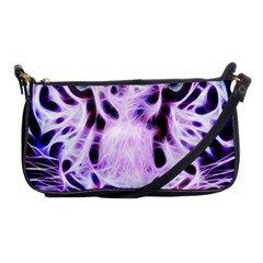 Fractal Wire White Tiger Shoulder Clutch Bags by Simbadda