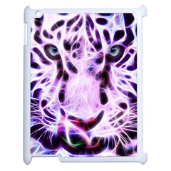 Fractal Wire White Tiger Apple Ipad 2 Case (white) by Simbadda