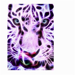 Fractal Wire White Tiger Large Garden Flag (two Sides) by Simbadda