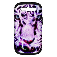 Fractal Wire White Tiger Samsung Galaxy S Iii Hardshell Case (pc+silicone) by Simbadda