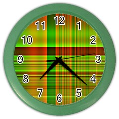 Multicoloured Background Pattern Color Wall Clocks by Simbadda