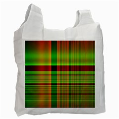 Multicoloured Background Pattern Recycle Bag (one Side) by Simbadda