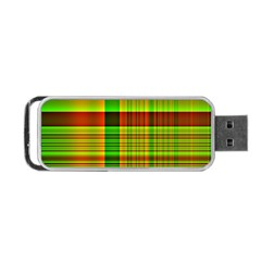 Multicoloured Background Pattern Portable Usb Flash (one Side) by Simbadda