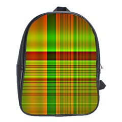 Multicoloured Background Pattern School Bags (xl)  by Simbadda
