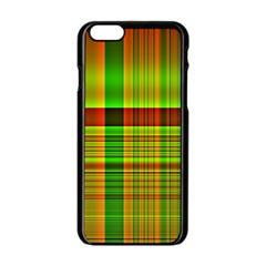 Multicoloured Background Pattern Apple Iphone 6/6s Black Enamel Case by Simbadda