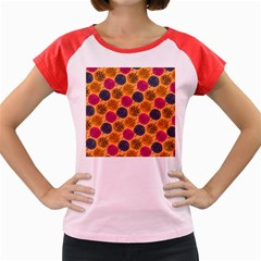 Colorful Trees Background Pattern Women s Cap Sleeve T Shirt by Simbadda