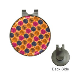 Colorful Trees Background Pattern Hat Clips With Golf Markers by Simbadda
