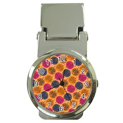 Colorful Trees Background Pattern Money Clip Watches by Simbadda