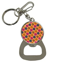 Colorful Trees Background Pattern Button Necklaces by Simbadda