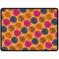 Colorful Trees Background Pattern Double Sided Fleece Blanket (large)  by Simbadda