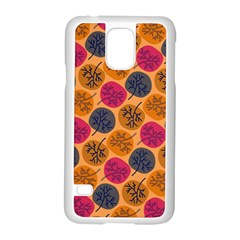 Colorful Trees Background Pattern Samsung Galaxy S5 Case (white) by Simbadda
