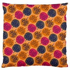 Colorful Trees Background Pattern Large Flano Cushion Case (two Sides) by Simbadda