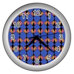 Abstract Lines Seamless Pattern Wall Clocks (silver)  by Simbadda