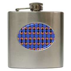 Abstract Lines Seamless Pattern Hip Flask (6 Oz) by Simbadda