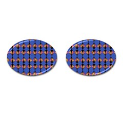 Abstract Lines Seamless Pattern Cufflinks (oval) by Simbadda