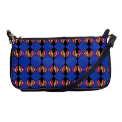 Abstract Lines Seamless Pattern Shoulder Clutch Bags by Simbadda