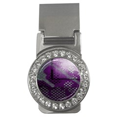 Evil Moon Dark Background With An Abstract Moonlit Landscape Money Clips (CZ)  by Simbadda