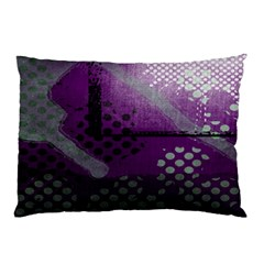 Evil Moon Dark Background With An Abstract Moonlit Landscape Pillow Case (two Sides) by Simbadda