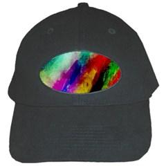 Colorful Abstract Paint Splats Background Black Cap by Simbadda