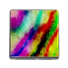 Colorful Abstract Paint Splats Background Memory Card Reader (square) by Simbadda