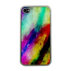 Colorful Abstract Paint Splats Background Apple Iphone 4 Case (clear) by Simbadda