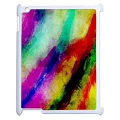 Colorful Abstract Paint Splats Background Apple Ipad 2 Case (white) by Simbadda