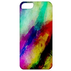Colorful Abstract Paint Splats Background Apple Iphone 5 Classic Hardshell Case by Simbadda