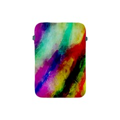Colorful Abstract Paint Splats Background Apple Ipad Mini Protective Soft Cases by Simbadda