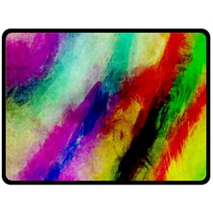 Colorful Abstract Paint Splats Background Double Sided Fleece Blanket (large)  by Simbadda