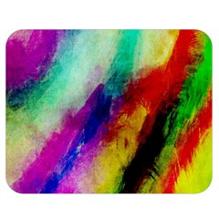 Colorful Abstract Paint Splats Background Double Sided Flano Blanket (medium)  by Simbadda