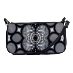 Mirror Of Black And White Fractal Texture Shoulder Clutch Bags by Simbadda