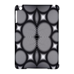 Mirror Of Black And White Fractal Texture Apple Ipad Mini Hardshell Case (compatible With Smart Cover) by Simbadda