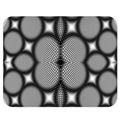 Mirror Of Black And White Fractal Texture Double Sided Flano Blanket (medium)  by Simbadda