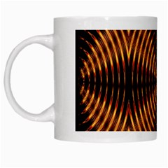 Fractal Pattern Of Fire Color White Mugs by Simbadda