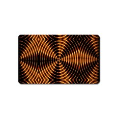Fractal Pattern Of Fire Color Magnet (name Card) by Simbadda