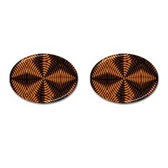 Fractal Pattern Of Fire Color Cufflinks (oval) by Simbadda