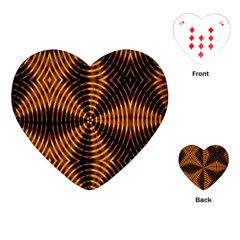 Fractal Pattern Of Fire Color Playing Cards (heart)  by Simbadda